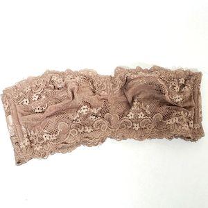 Wishlist Nude Strapless Lace Bralette Size Medium